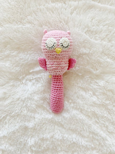 Owl Stick Rattle (Pink)
