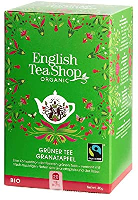 English Tea Shop Organic Green tea and pomegranate tea (20 teabags) | 有機石榴綠茶 (20 茶包)