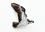 Mai Po Bird Pin - Western Osprey flying | 米埔雀鳥 - 魚鷹 (飛行)