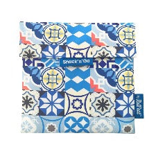 Eco wrap Snack'n'go Patchwork - Blue | 食物麵包袋併布圖案 - 藍色