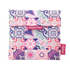 Eco wrap Snack'n'go Patchwork - Purple | 食物麵包袋併布圖案 - 粉色