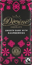 DIVINE SMOOTH DARK WITH RASPBERRIES CHOCOLATE 90G | 覆盆子黑朱古力 (90克)