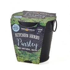 Kitchen Herbs Black Matt - Parsley | 香草廚房黑色盆 - 荷蘭芹