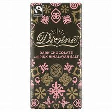 DIVINE DARK CHOCOLATE WITH PINK HIMALAYAN SALT 90G | 喜瑪拉雅山玫瑰岩鹽黑朱古力 (90克)