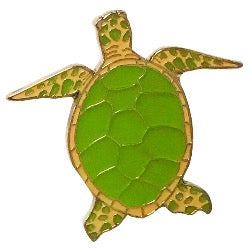 Green Turtle Pin | 海龜襟針