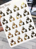 Foiled* Disney Countdown Planner Stickers | Erin Condren, Happy Planner, Kikki K, Filofax