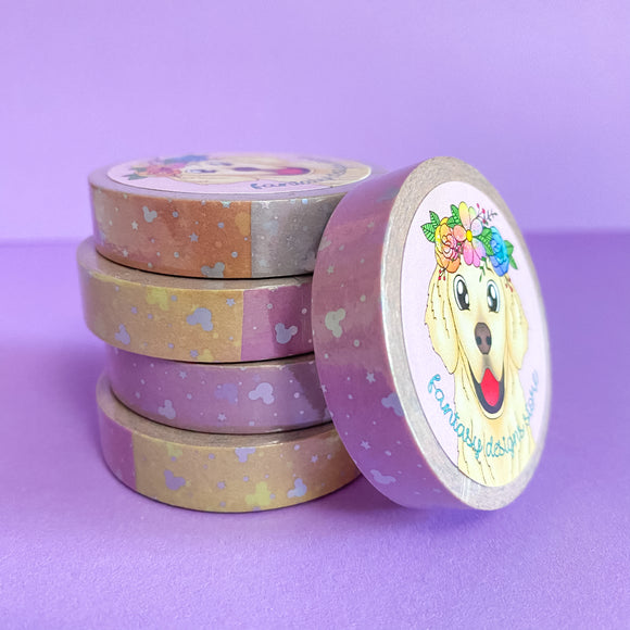Rainbow Dreams 10mm washi tape *You must select tracking at checkout*