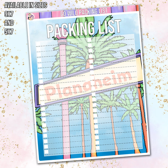 Wild One 2021 Packing List full page sticker
