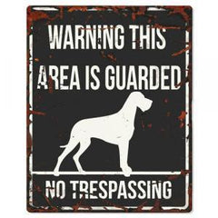 PLACA WARNING BEWARE - MundoAnimal.pt