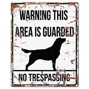 PLACA WARNING RETRIEVER - MundoAnimal.pt
