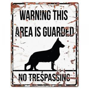 PLACA WARNING SHEPARD GERMAN - MundoAnimal.pt