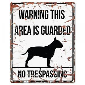 PLACA WARNING BULL TERRIER - MundoAnimal.pt