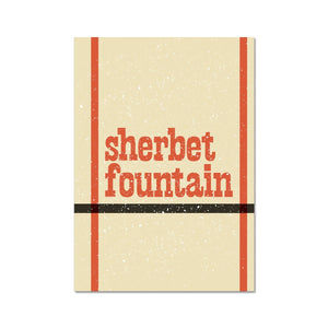 Sherbet Fountain Graphic Art Print