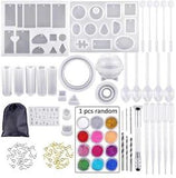 KIT molde de jóias de cristal DIY 82 Pcs