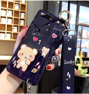 Cat Wrist Strap Bracket  Phone Case