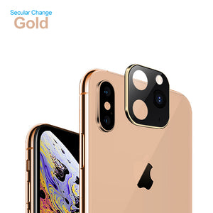 2PCS Lens Sticker Modified Titanium Alloy Case Applicable iPhone X XS XR MAX