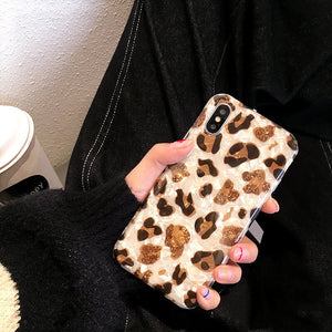 Marble Leopard Phone Case