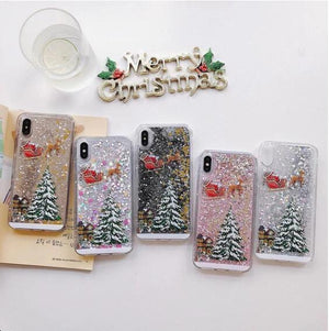 Christmas Flash Powder Phone Case