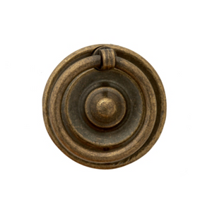 Traditional Vintage Round Ring on Backplate Drop Handle - 49mm (D)