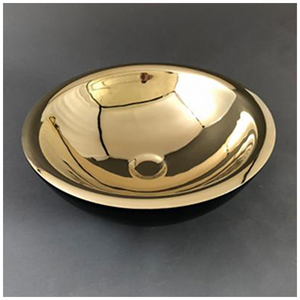 Double Skin Brass and Black Basin