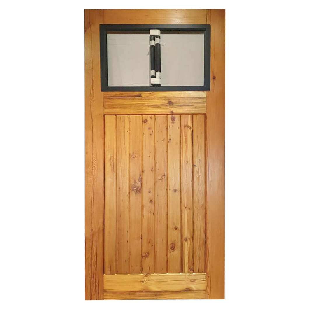 Barn Door with Steel and Glass Insert