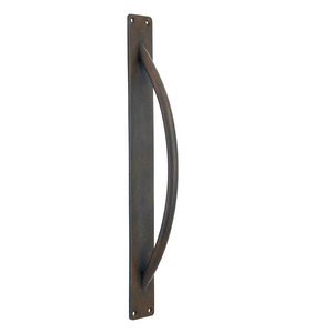 Round Handle on Backplate - Pull / Barn Door Handle - 360mm X 46mm
