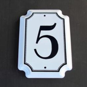 5 House Number Enamel