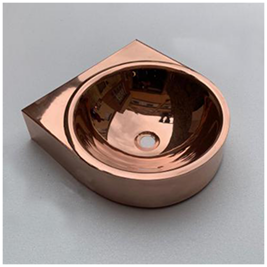 Wall Mounted Copper Sink 450mm X 480mm X 160mm