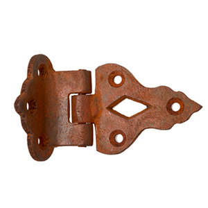 Rust Decorative Hinge - 86mm X 49mm (Each)