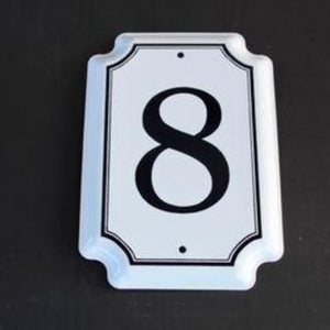 8 House Number Enamel