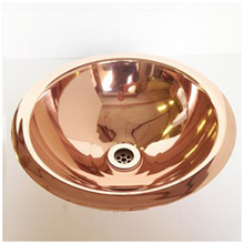 Load image into Gallery viewer, Copper Counter Top or Drop-in Basin
