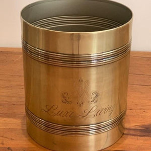 Waste Bin Living Brass