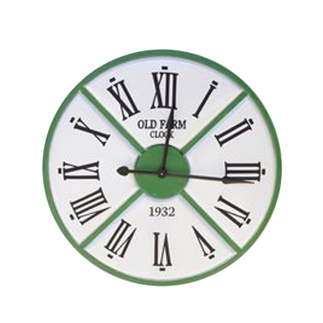 Green and White Extra Large Clock - 860mm diameter