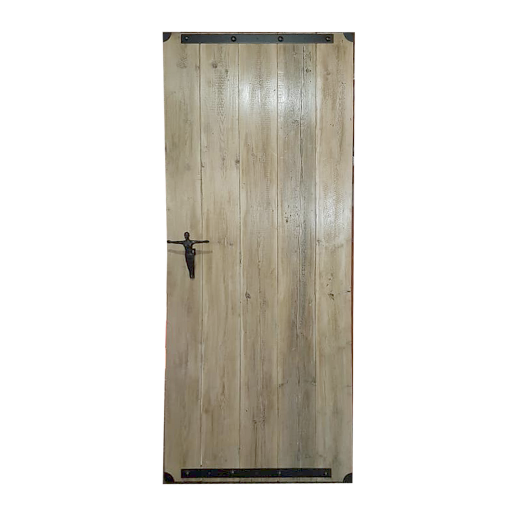 Internal Sliding Barn Door Whitewashed - 1,2m wide x 2,2m high