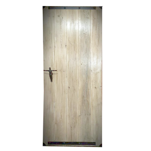 Internal Sliding Barn Door - Whitewashed Wider Panels - up to 1m wide x 2,2m high