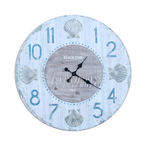 Large Shell Wall Clock - 790 round