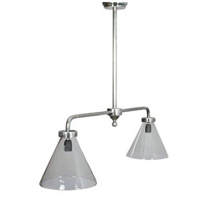 Double Hanging Large Cone Light Fitting