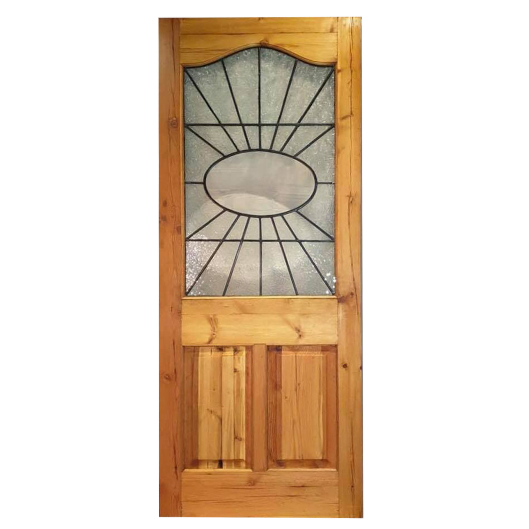 New Arch top Door  and Lead Glass