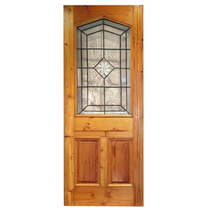 Front Door with Triangle Top, Lead Glass with Bulls Eye