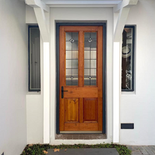 Load image into Gallery viewer, New Victorian Front Door with Ribbed Stained Glass - 810mm X 2010mm
