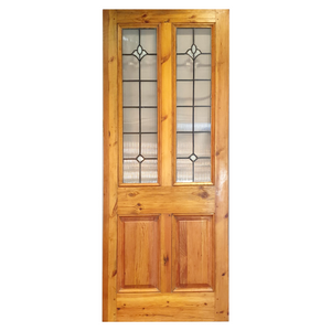 New Victorian Front Door with Ribbed Stained Glass - 810mm X 2010mm