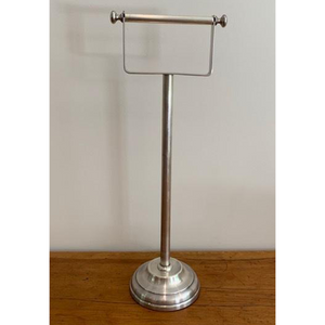 Pewter Plain Free Standing Toilet Roll Holder