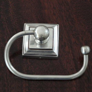 Pewter Square Toilet Roll Holder