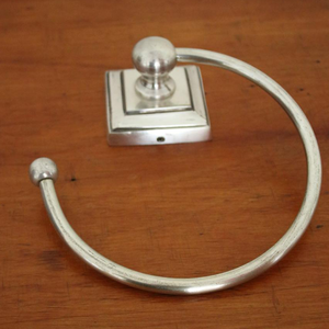 Pewter Square Towel Ring