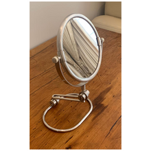 Load image into Gallery viewer, Pewter Vanity Mirror