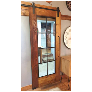 Barn Door With Steel and Glass Insert - 900cm wide x 2,2m high