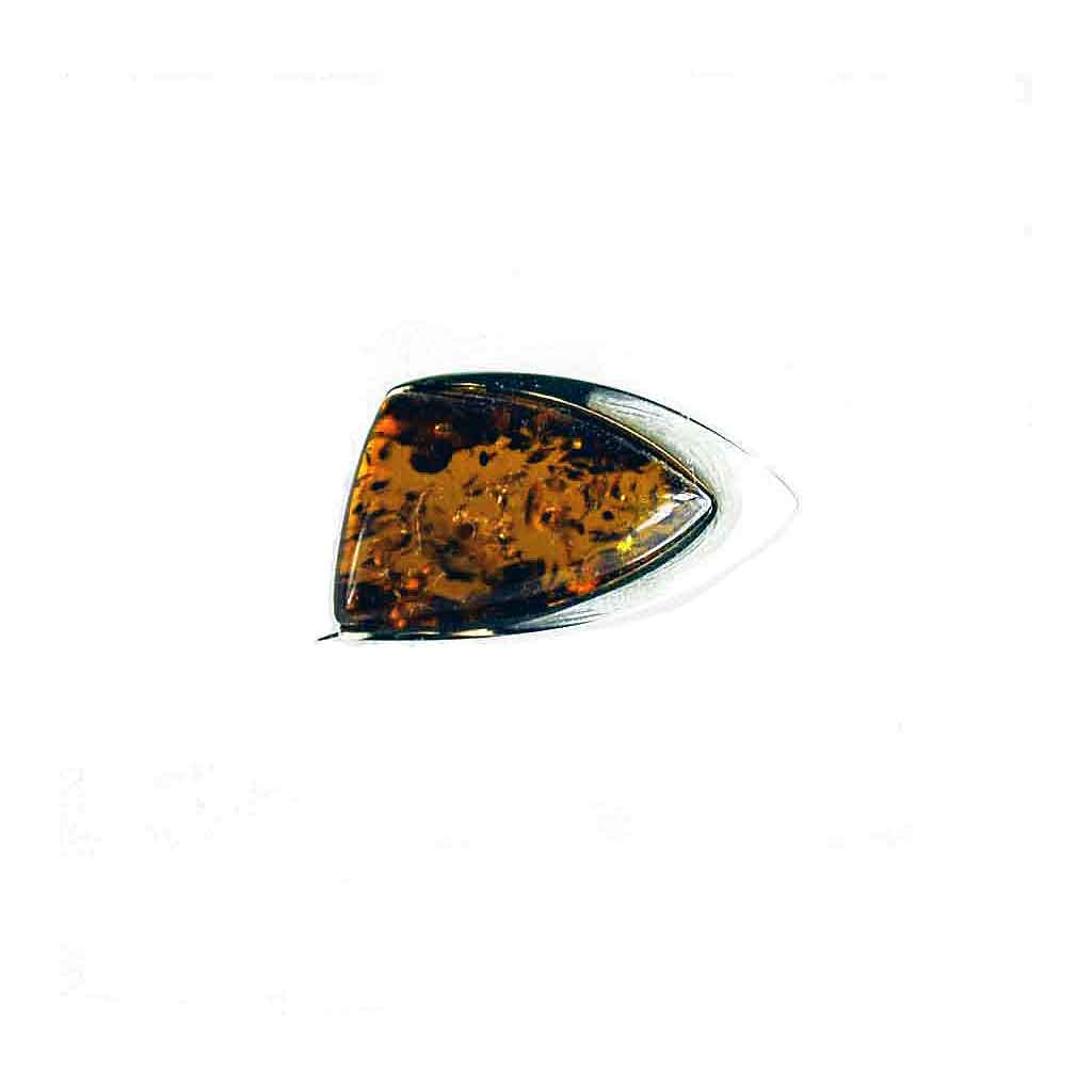 Baltic Amber Contemporary Abstract Pin in Honey Amber