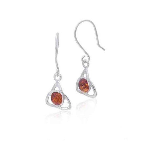 Baltic Amber and Sterling Silver Petite Honey Amber Earrings