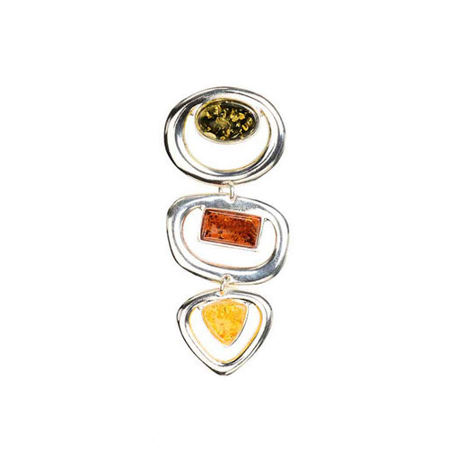 Baltic Amber Contemporary Geometric Shapes Pendant
