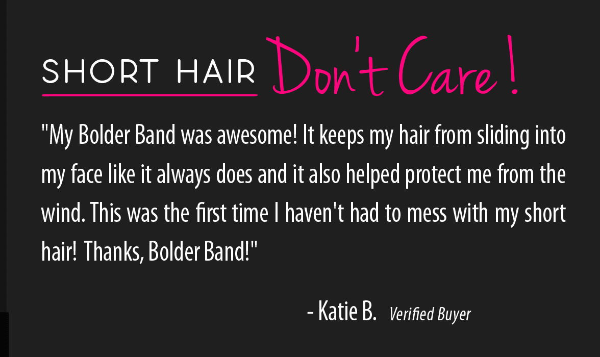 headbands for short hair testimonial